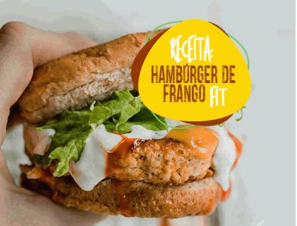 RECEITA HAMBÚRGER DE FRANGO FIT