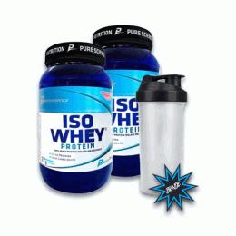 Iso Whey Protein (900g) 2 unidades + Coqueteleira
