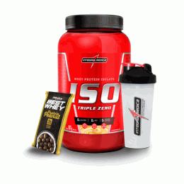 Iso Triple Zero (907g) + Coqueteleira (600ml) e Best Whey Protein Peanut (50g)
