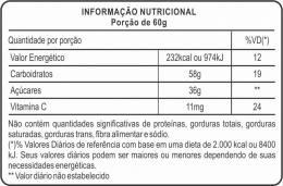 Fisio Malto Dextrina com Vitamina C (1kg) - tabela nutricional