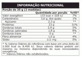 TABELA NUTRICIONAL - PROBIOTICA